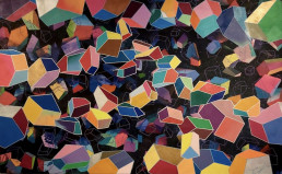 "Ernesto Ibañez ""Winter Clouds"" 37 x 60"" Acrylic on canvas $4200"