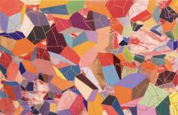 """Ernesto Ibañez """"Yellow Mountains"""" 28x35"""" Acrylic on canvas $3000"""